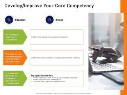 Develop Improve Your Core Competency How To Mold Elements Of An Organization For Synergy And Success Ppt Pictures