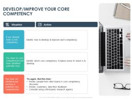 Develop Improve Your Core Competency Ppt Powerpoint Presentation Styles Graphics