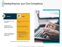 Develop Improve Your Core Competency Teams Ppt Powerpoint Presentation File Icon