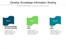 Develop Knowledge Information Sharing Ppt Powerpoint Presentation Infographic Cpb