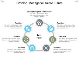 Develop Managerial Talent Future Ppt Powerpoint Presentation Portfolio Cpb