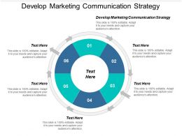 Develop Marketing Communication Strategy Ppt Powerpoint Presentation Gallery Skills Cpb