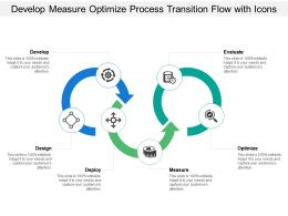 Develop Measure Optimize Process Transition Flow With Icons