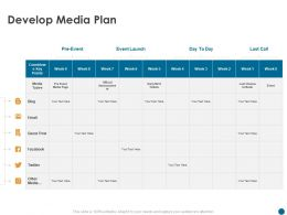 Develop Media Plan Official Announcement Ppt Powerpoint Presentation Styles Outline