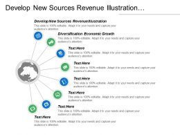 Develop New Sources Revenue Illustration Diversification Economic Growth Cpb