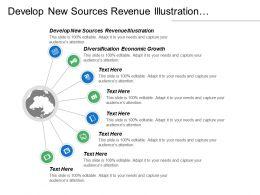 Develop New Sources Revenue Illustration Diversification Economic Growth Cpb