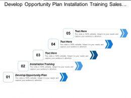 Develop Opportunity Plan Installation Training Sales Information Gathering