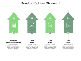 Develop Problem Statement Ppt Powerpoint Presentation Visual Aids Infographics Cpb