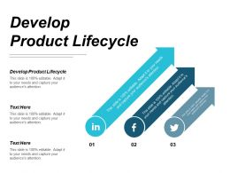Develop Product Lifecycle Ppt Powerpoint Presentation Portfolio Deck Cpb