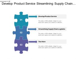 Develop Product Service Streamlining Supply Chain Logistics Maturity Grid