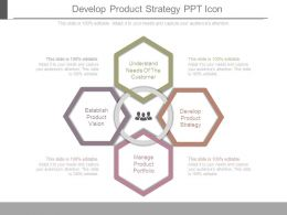 Develop Product Strategy Ppt Icon