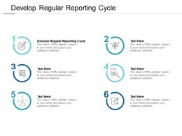 Develop Regular Reporting Cycle Ppt Powerpoint Presentation Portfolio Styles Cpb