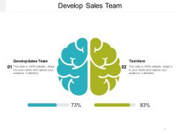 Develop Sales Team Ppt Powerpoint Presentation File Designs Download Cpb