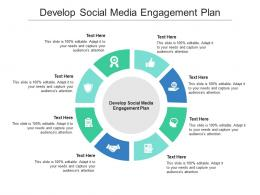 Develop Social Media Engagement Plan Ppt Powerpoint Presentation Show Clipart Images Cpb