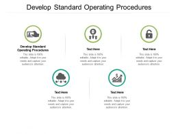 Develop Standard Operating Procedures Ppt Powerpoint Presentation Layouts Layout Cpb