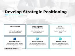 Develop Strategic Positioning Ppt Powerpoint Presentation Gallery Icon