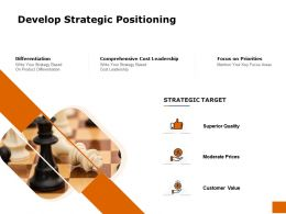 Develop Strategic Positioning Ppt Powerpoint Presentation Pictures Graphics