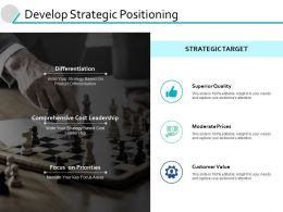 Develop Strategic Positioning Superior Quality Powerpoint Presentation File Aids