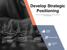 Develop Strategic Positioning Superior Quality Ppt Powerpoint Presentation Icon