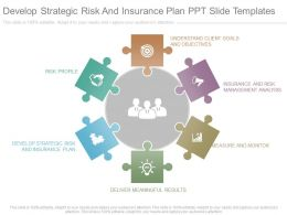 Develop Strategic Risk And Insurance Plan Ppt Slide Templates