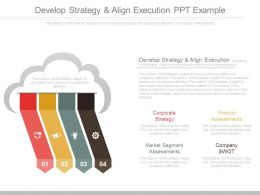 Develop Strategy And Align Execution Ppt Example