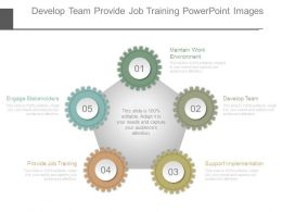 Develop Team Provide Job Training Powerpoint Images