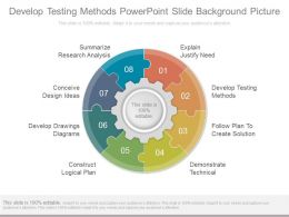 Develop Testing Methods Powerpoint Slide Background Picture