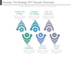 Develop The Strategy Presentation Background Images