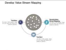 Develop Value Stream Mapping Ppt Powerpoint Presentation Icon Slideshow Cpb