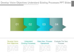 Develop Vision Objectives Understand Existing Processes Ppt Slide
