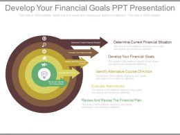 Develop Your Financial Goals Ppt Presentation