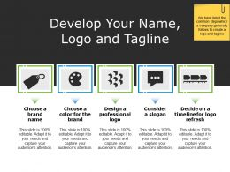 Develop Your Name Logo And Tagline Powerpoint Topics