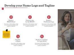 Develop Your Name Logo And Tagline Ppt Powerpoint Influencers