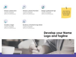 Develop Your Name Logo And Tagline Ppt Powerpoint Presentation Files