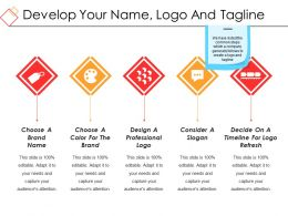 Develop Your Name Logo And Tagline Ppt Sample