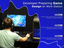 Developer Preparing Game Design On Work Station