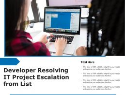 Developer Resolving IT Project Escalation From List