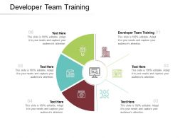 Developer Team Training Ppt Powerpoint Presentation Ideas Design Inspiration Cpb