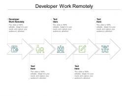 Developer Work Remotely Ppt Powerpoint Presentation File Design Templates Cpb