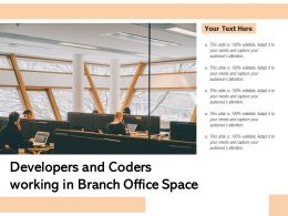 Developers And Coders Working In Branch Office Space