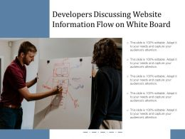 Developers Discussing Website Information Flow On White Board