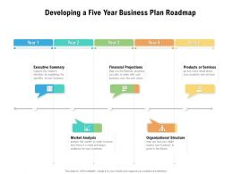 Developing A Five Year Business Plan Roadmap