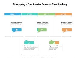 Developing A Four Quarter Business Plan Roadmap