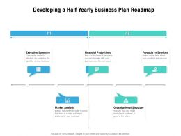 Developing A Half Yearly Business Plan Roadmap