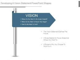 Developing A Vision Statement Powerpoint Shapes