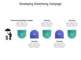 Developing Advertising Campaign Ppt Powerpoint Presentation Infographic Template Icons Cpb