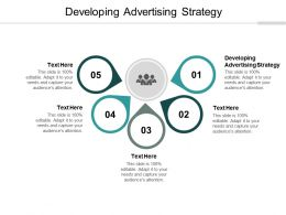 Developing Advertising Strategy Ppt Powerpoint Presentation Model Background Cpb