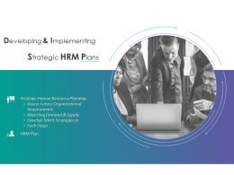 Developing And Implementing Strategic HRM Plans Demand Ppt Powerpoint Presentation Elements
