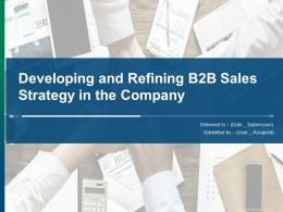 Developing And Refining B2B Sales Strategy In The Company Powerpoint Presentation Slides