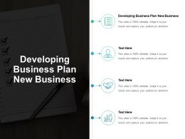Developing Business Plan New Business Ppt Powerpoint Presentation Outline Slide Cpb